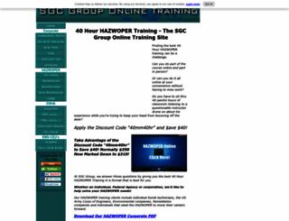 40-hour-hazwoper-training.com screenshot