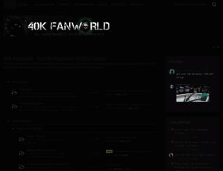 40k-fanworld.de screenshot