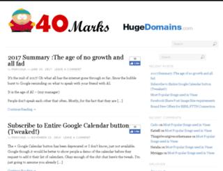 40marks.com screenshot