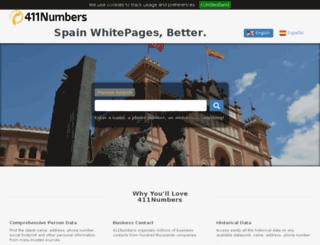 411numbers.es screenshot