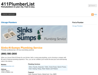 411plumberlist.com screenshot