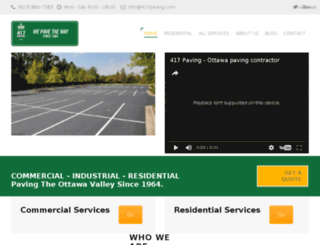417paving.com screenshot