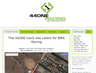 44oneracing.co.za screenshot