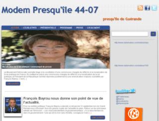 44presquile.lesdemocrates.fr screenshot