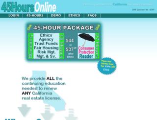 45hoursonline.com screenshot