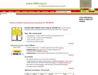 498a.org.in screenshot