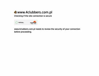 4clubbers.com.pl screenshot