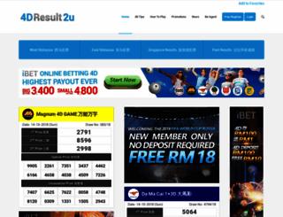 4dresult2u.com screenshot