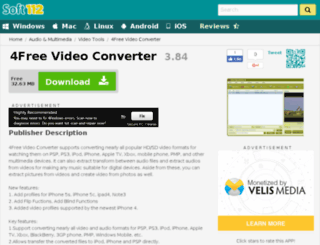 4free-video-converter.soft112.com screenshot