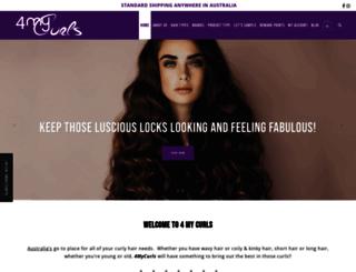 4mycurls.com.au screenshot