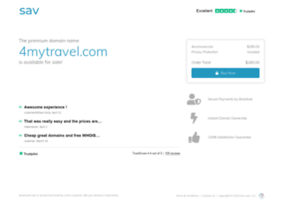4mytravel.com screenshot