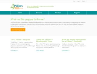 4pillarstoolkit.pitt.edu screenshot