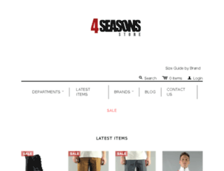 4seasonsstore.co.uk screenshot