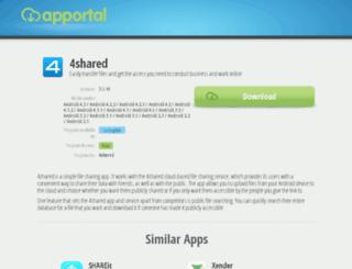 4shared.apportal.co screenshot