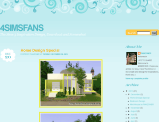 4simsfans.blogspot.com screenshot