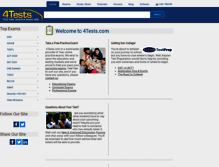4tests.com screenshot