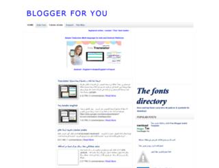 4ur-blogger.blogspot.com screenshot