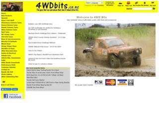 4wdbits.co.nz screenshot