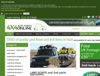 4x4autoparts-online.co.uk screenshot