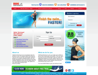 5000swimworkouts.com screenshot