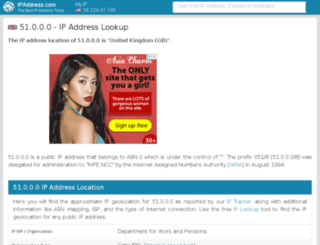 51.ipaddress.com screenshot
