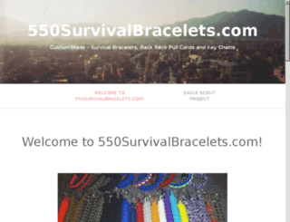 550survivalbracelets.com screenshot