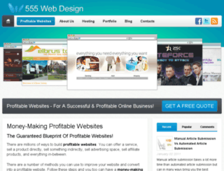 555webdesign.co.uk screenshot