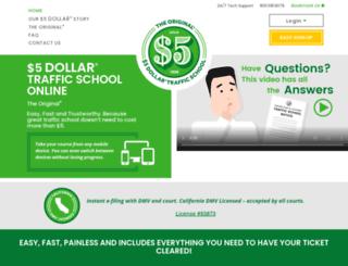 5dollartrafficschoolonline.com screenshot