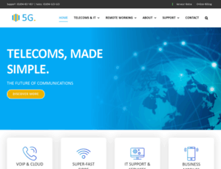 5gtelecoms.co.uk screenshot