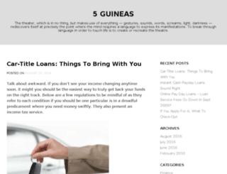 5guineas.com screenshot