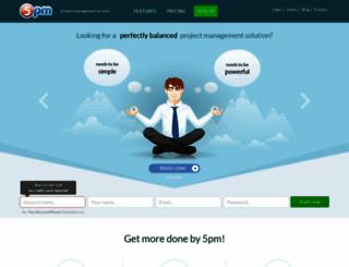 5pmweb.com screenshot