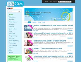 5poundgigs.co.uk screenshot
