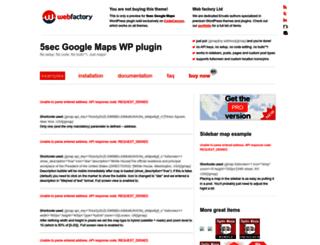 5sec-gmap.webfactoryltd.com screenshot