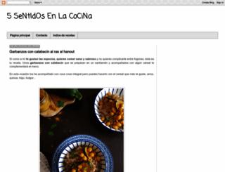 5sentidosenlacocina.blogspot.com screenshot