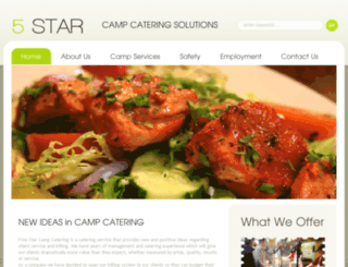 5starcampcatering.com screenshot