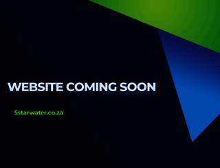 5starwater.co.za screenshot