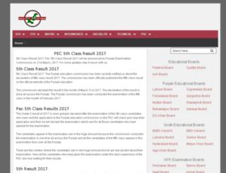 5thclass.pec-result.com screenshot