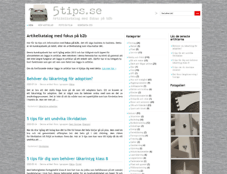 5tips.se screenshot