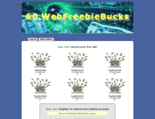 60.webfreebiebucks.com screenshot