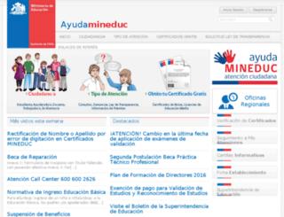 600.mineduc.cl screenshot
