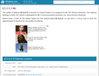 63.ipaddress.com screenshot