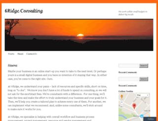 6ridgeconsulting.com screenshot