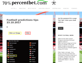 70percentbet.com screenshot