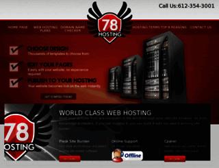 78hosting.com screenshot