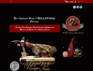 7bellotas.co.uk screenshot