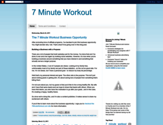7minuteworkout.blogspot.com screenshot