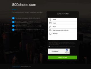 800shoes.com screenshot
