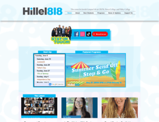 818.hillel.org screenshot