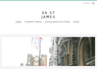 86stjames.com screenshot