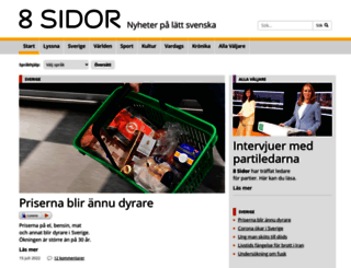 8sidor.se screenshot